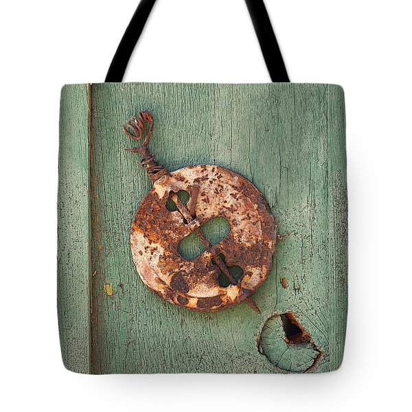 Old Stove Valve Tote Bag by Art Block Collections