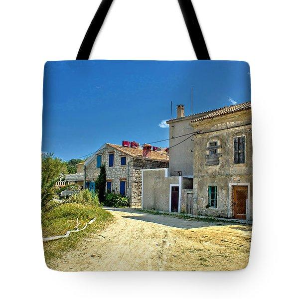 Old Streets Of Susak Island Tote Bag