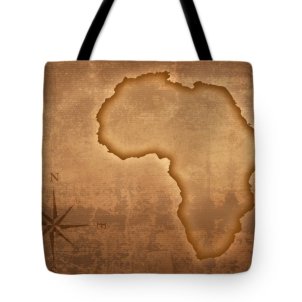 Old Style Africa Map Tote Bag