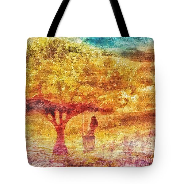 Old Swing Tote Bag by Mo T