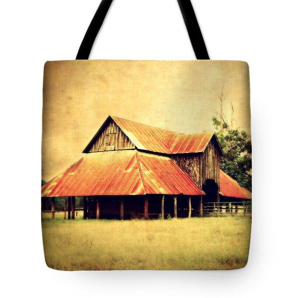 Old Texas Barn Tote Bag by Julie Hamilton