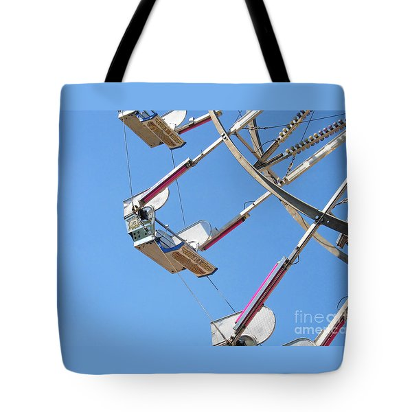 Old Time Ferris Wheel Tote Bag by Ann Horn