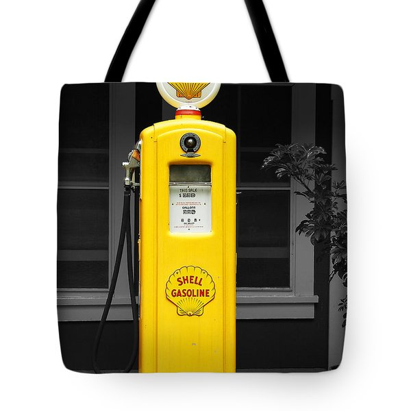 Tote Bag featuring the photograph Old Time Gas Pump by David Lawson