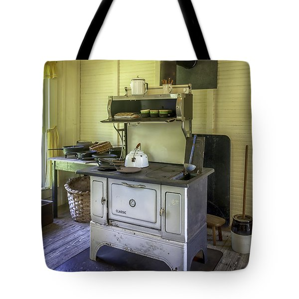 Old Timey Stove Tote Bag by Lynn Palmer