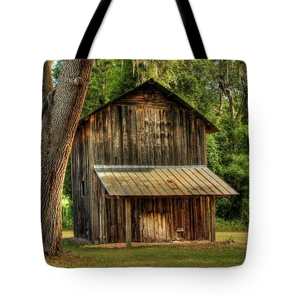 Old Tobacco Barn Tote Bag by Donald Williams