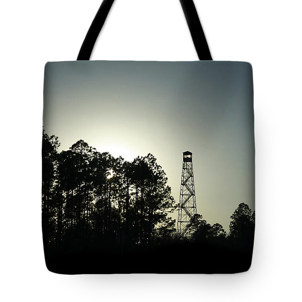 Old Tower Tote Bag by Debra Forand