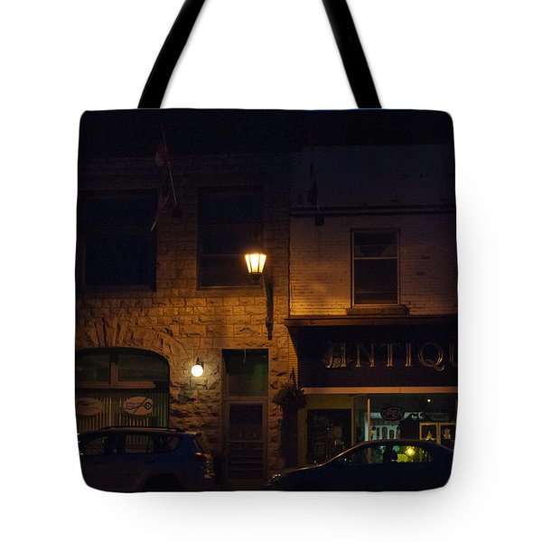 Old Town At Night Tote Bag by Cheryl Baxter