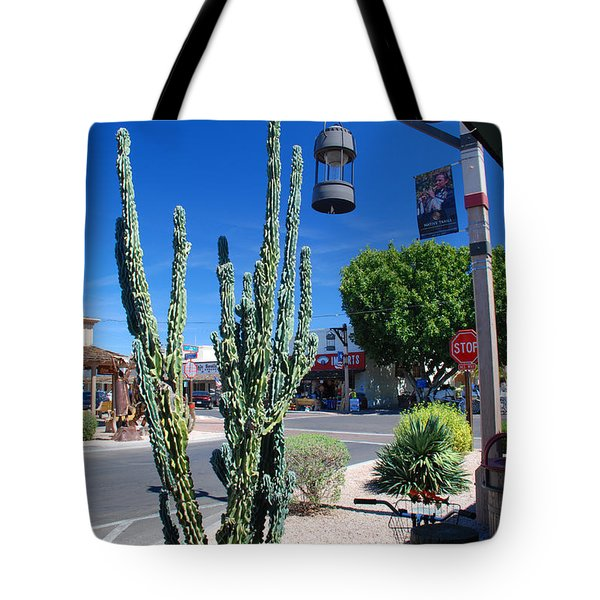Old Town Cactus Tote Bag