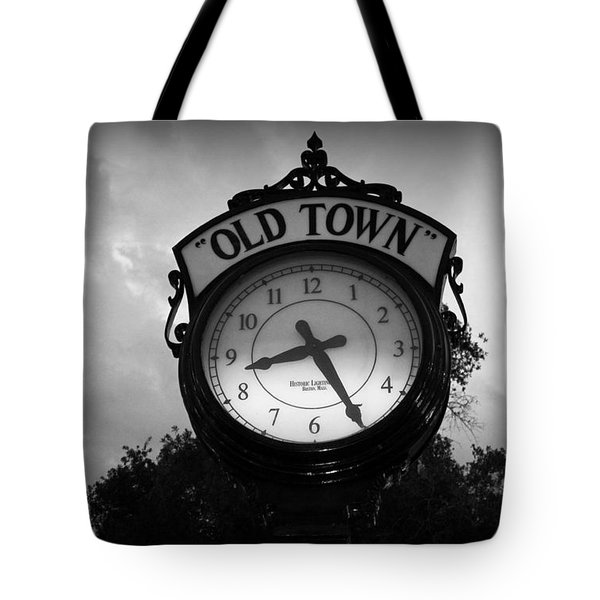 Old Town Clock Tote Bag by Laurie Perry