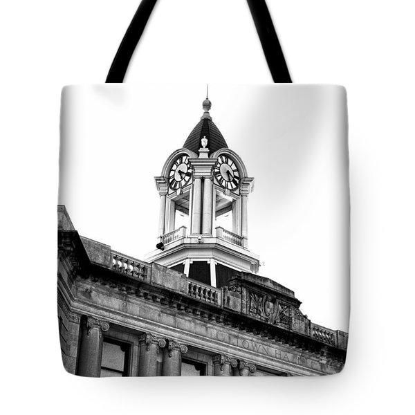 Old Town Hall In Stamford Tote Bag by Boris Mordukhayev