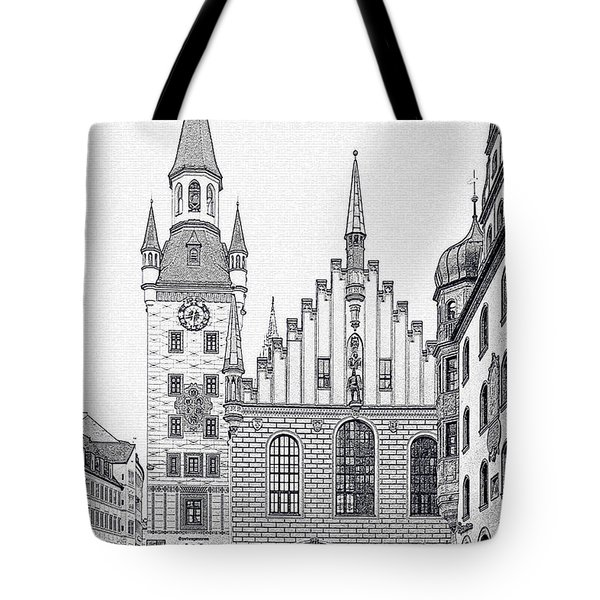 Old Town Hall - Munich - Germany Tote Bag by Christine Till