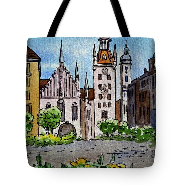 Old Town Hall Munich Germany Tote Bag by Irina Sztukowski