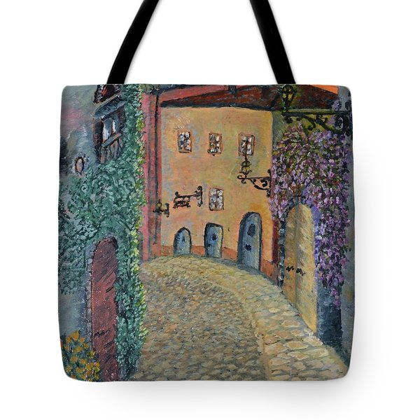 Tote Bag featuring the painting Old Town In Piedmont by Felicia Tica