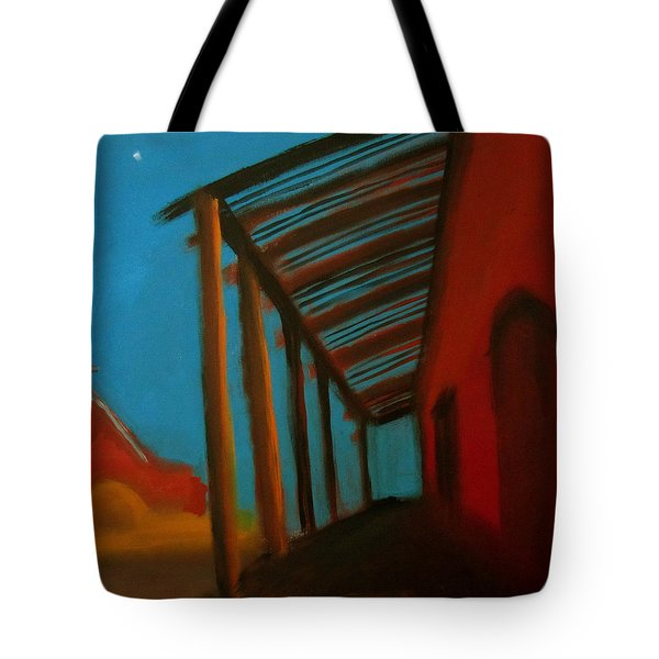 Tote Bag featuring the painting Old Town by Keith Thue