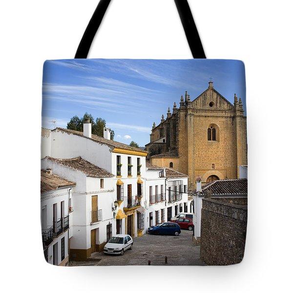 Old Town Of Ronda Tote Bag by Artur Bogacki