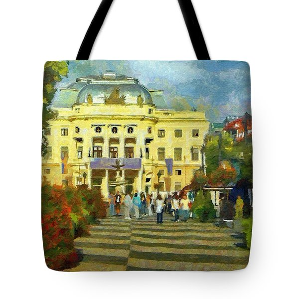 Old Town Square Tote Bag by Jeffrey Kolker