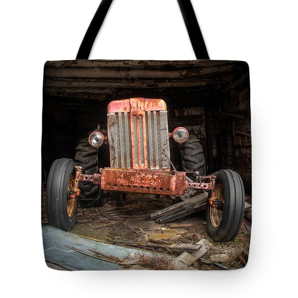 Old Tractor Face Tote Bag