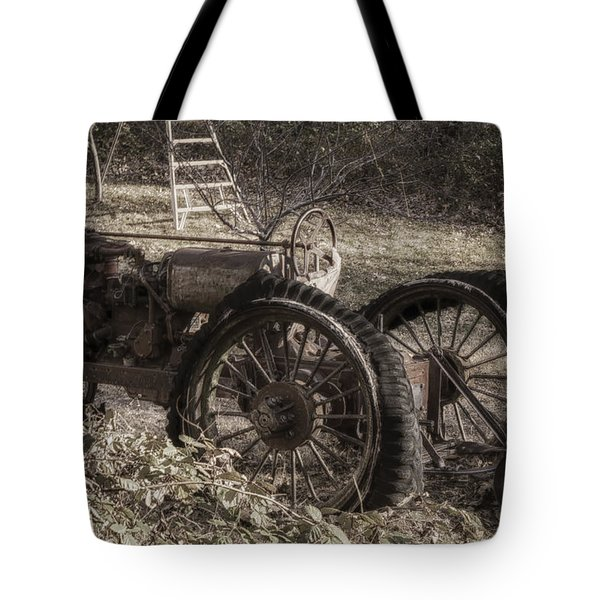 Tote Bag featuring the photograph Old Tractor by Lynn Geoffroy