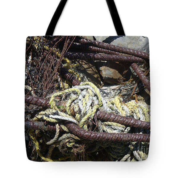 Tote Bag featuring the photograph Old Trap  by Minnie Lippiatt