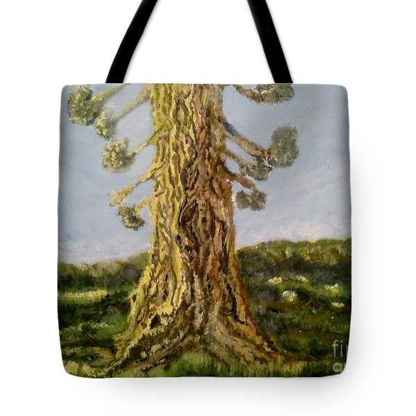 Old Tree In Spring Light Tote Bag by Felicia Tica