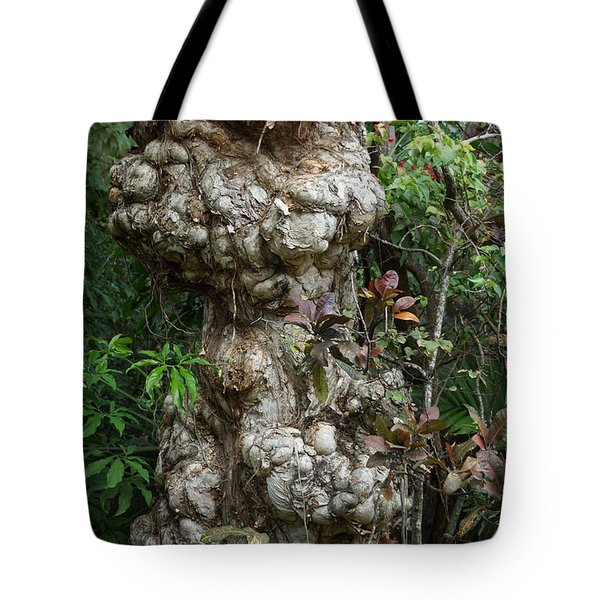 Tote Bag featuring the mixed media Old Tree by Rafael Salazar