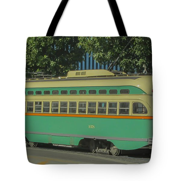 Old Trolley Car Tote Bag