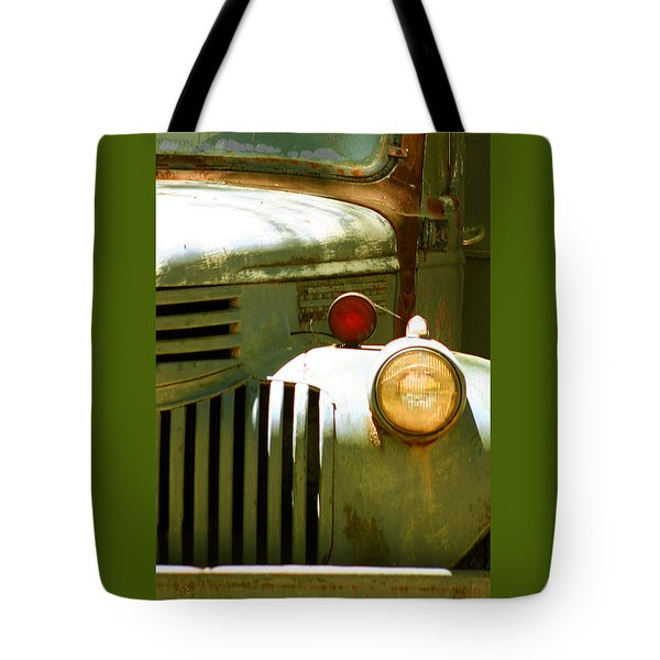 Old Truck Abstract Tote Bag