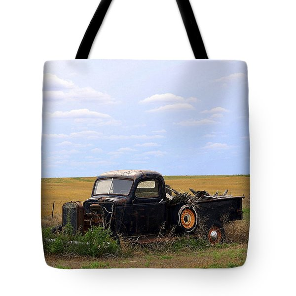 Old Truck  Tote Bag by Clarice  Lakota