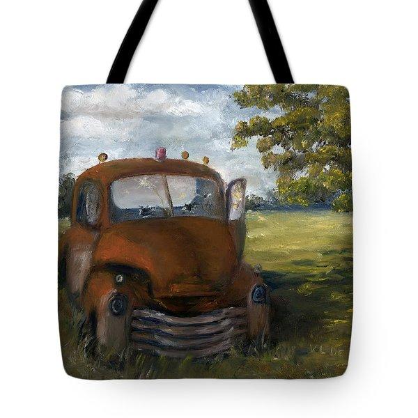 Old Truck Shreveport Louisiana Wrecker Tote Bag by Lenora  De Lude