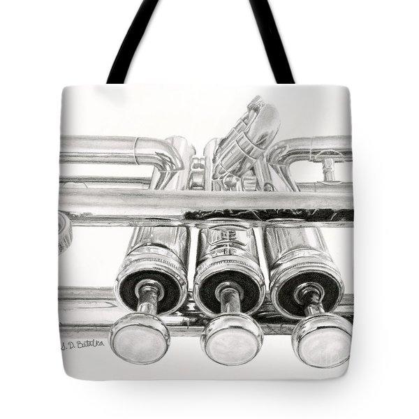 Old Trumpet Valves Tote Bag