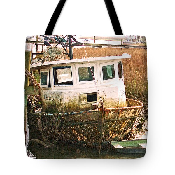 Old Tugboat By Jan Marvin Tote Bag
