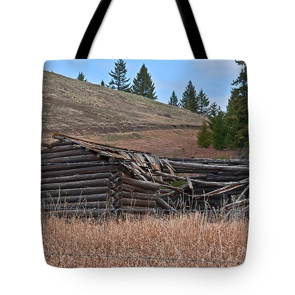 Tote Bag featuring the photograph Old Turn Of The Century Log Cabin Homestead Art Prints by Valerie Garner
