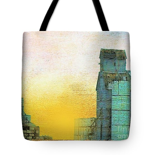 Old Used Grain Elevator Tote Bag