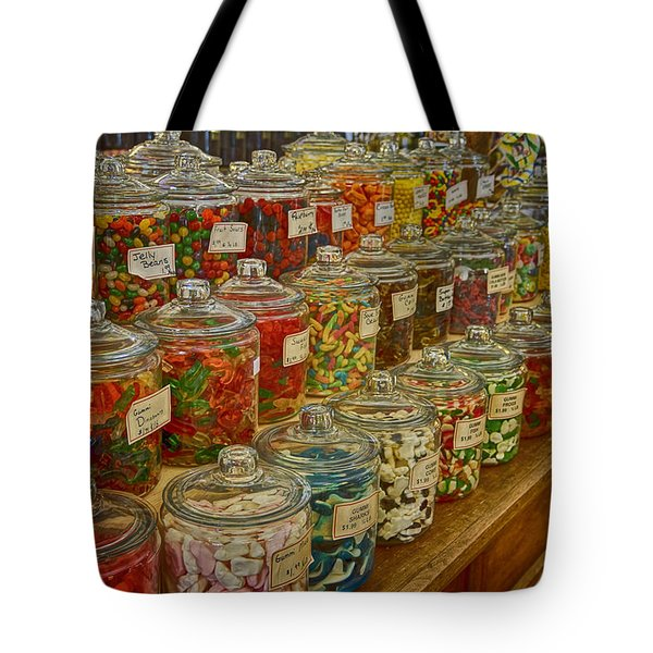 Old Village Mercantile Caledonia Mo Candy Jars Dsc04014 Tote Bag