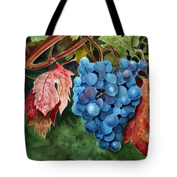 Old Vine Zinfandel Tote Bag by Debbie Hart