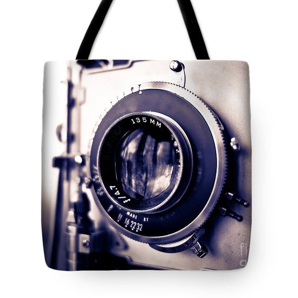 Old Vintage Press Camera  Tote Bag by Edward Fielding