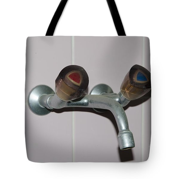 Old Water Tap Tote Bag by Mats Silvan