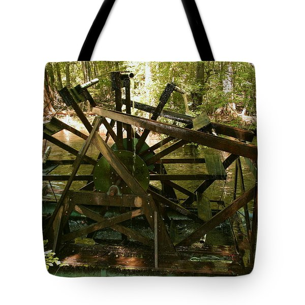 Old Waterwheel Tote Bag by Cathy Harper