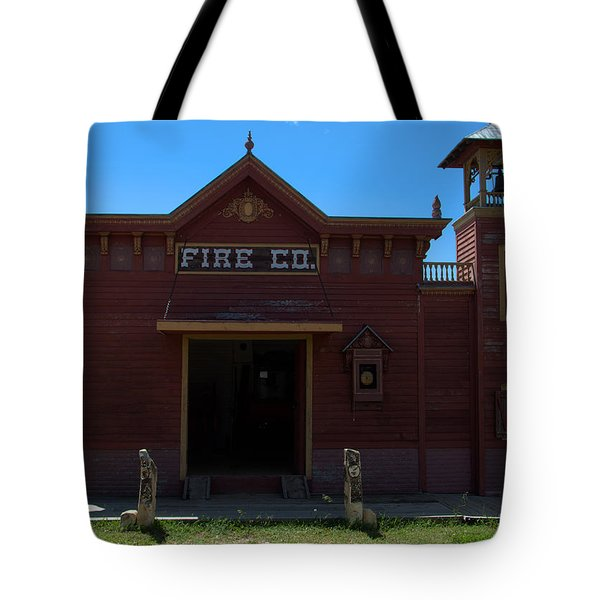 Old West Fire Station Tote Bag