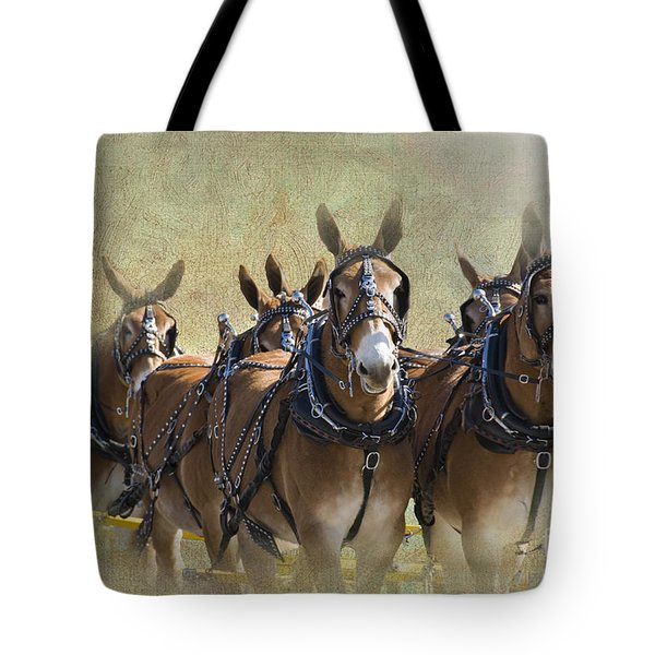 Old West Mule Train Tote Bag by Betty LaRue