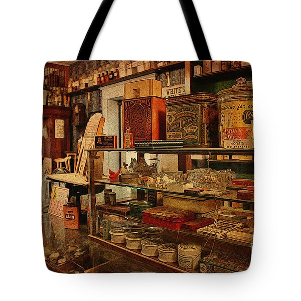 Old Western General Store Counter Tote Bag by Janice Rae Pariza