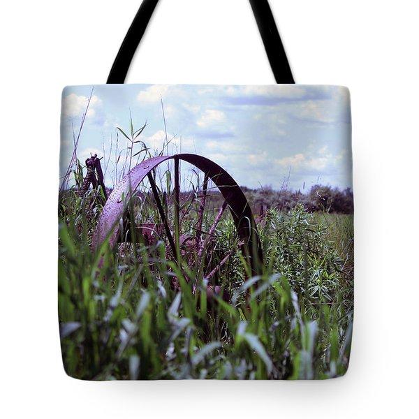Old Wheel  Tote Bag by Joann Copeland-Paul