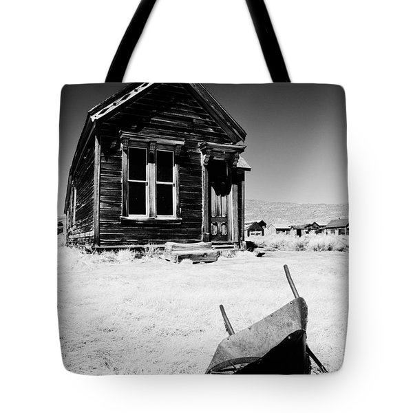 Old Wheelbarrow Tote Bag by Cat Connor