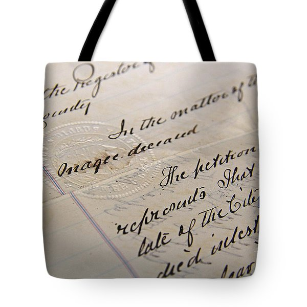 Old Will Tote Bag by Traci Law
