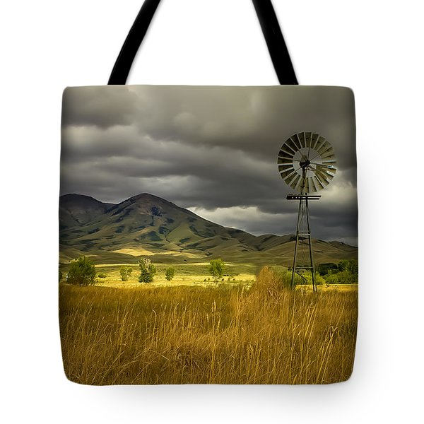 Old Windmill Tote Bag