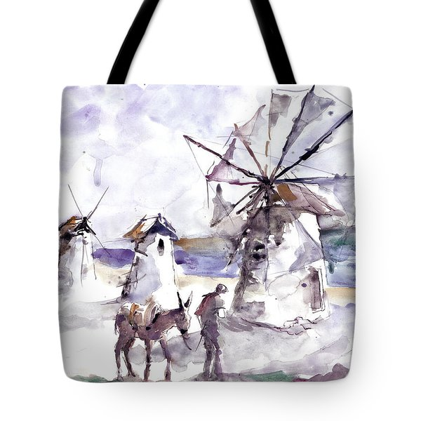 Old Windmills At Bodrum Tote Bag