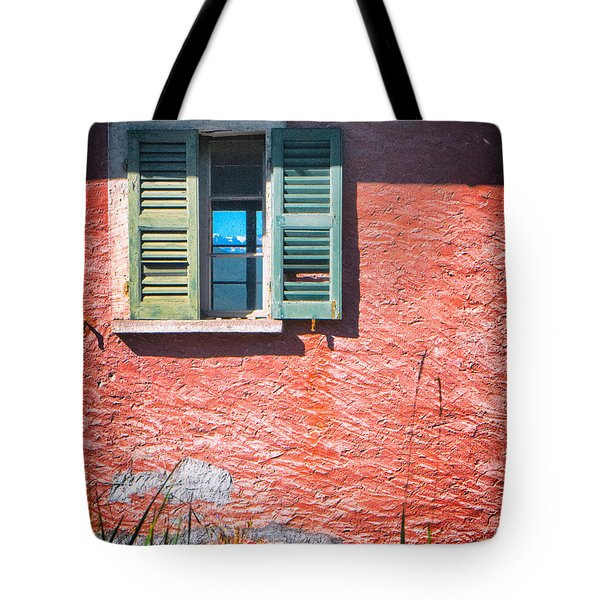 Tote Bag featuring the photograph Old Window With Reflection by Silvia Ganora