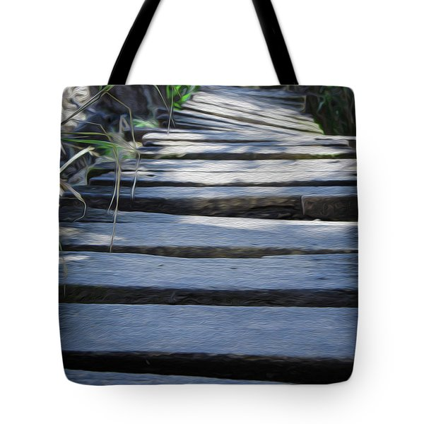 Old Wodden Bridge Tote Bag by Aged Pixel