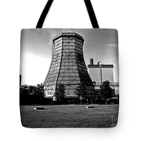 Old Wooden Cooling Tower Tote Bag by Andy Prendy
