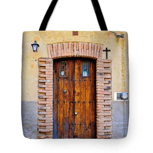 Old Wooden Door - Mexico - Photograph By David Perry Lawrence Tote Bag